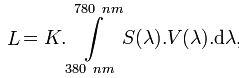 formule photométrie radiométrie
