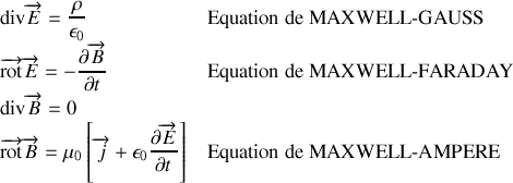 Equations Maxwell